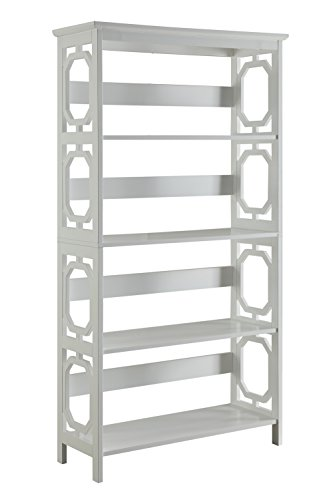 Convenience Concepts Omega 5-Tier Bookcase, White