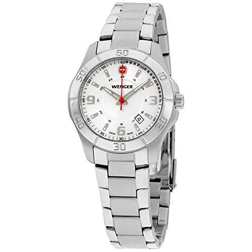 Wenger Women's 70499 Alpine White Dial Steel Bracelet Watch