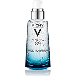 Vichy Mineral 89 Face Moisturizer with Hyaluronic Acid, Fortifying & Hydrating Daily Skin Booster, 1.69 Fl. Oz.