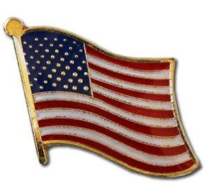 USA American Flag Lapel Pin Standard (American All Pin)