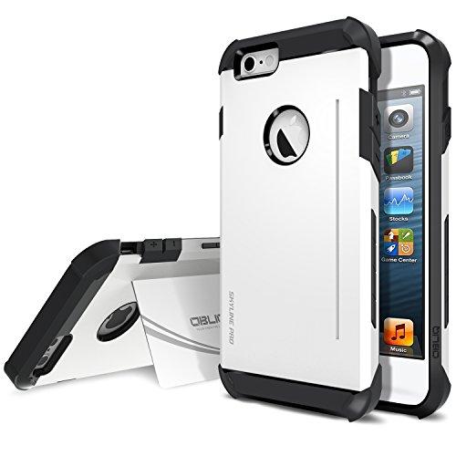 - Obliq SkyLine Pro OBIP6P-SLP03 Heavy Duty Scratch Resist Kickstand Protective Slim Fit Armor Mobile case for iPhone 6 / 6s Plus - SK White