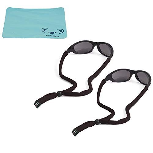 Chums Original Cotton Eyewear Retainer Sunglass Strap | Adjustable Eyeglass & Sports Glasses Holder Keeper Lanyard | 2pk Bundle + Cloth, ()