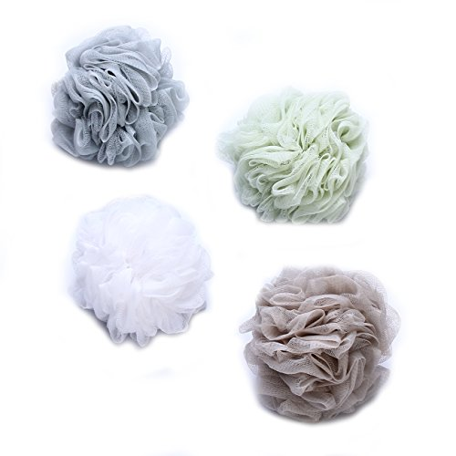 Goworth-Large-Bath-Shower-Sponge-Pouf-Loofahs-4-Packs-60g-Each-Eco-friendly-Exfoliating-Mesh-Brush-Pouf-Bath-Shower-Ball-Sponge-4-Colors-Exfoliate-Cleanse-Soothe-Skin