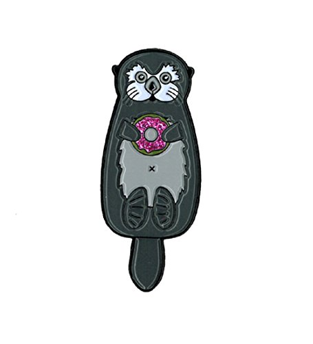 Cali Otter with Donut, Officially Licensed Original Artwork, Expertly Designed ENAMEL PIN - 0.5