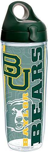 Baylor Bottle Bears - Tervis 1219939 Baylor Bears College Pride Tumbler with Wrap and Hunter Green with Gray Lid 24oz Water Bottle, Clear