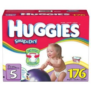 Huggies Size 5 (27+ Lbs) (Value Size - 176 Diapers) by Huggies