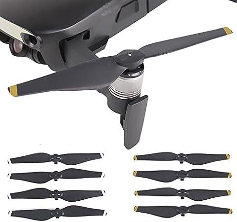Yellow Stripe PENIVO 2 Pair Quick-Release Folding Propellers Prop Blades for DJI Mavic Pro Drone Accessories
