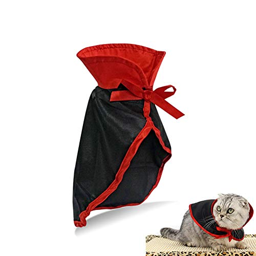 PETHOUZZ Pet Halloween Cloak Cosplay Vampire Cloak for Cat and Small Dogs,Pet Halloween Costume