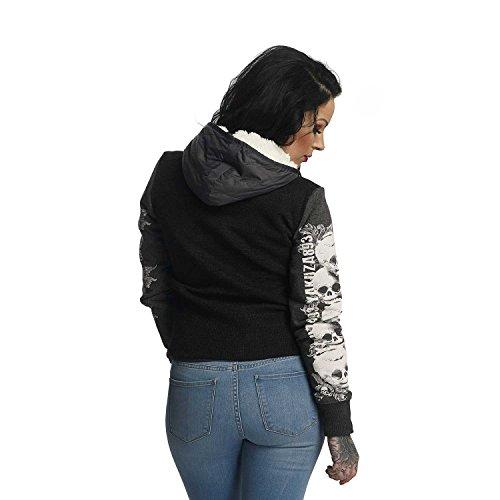 Giacche Jacket Skull Invernale Giacca Donna Grigio Teddy Yakuza 5wfP88