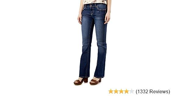 1db9cd0762eb4 Amazon.com  WallFlower Women s Juniors Luscious Curvy Stretch Denim Bootcut  Jeans (30