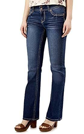WallFlower Juniors Luscious Curvy Short Inseam Basic Bootcut Jeans in Addison Size:0 Short