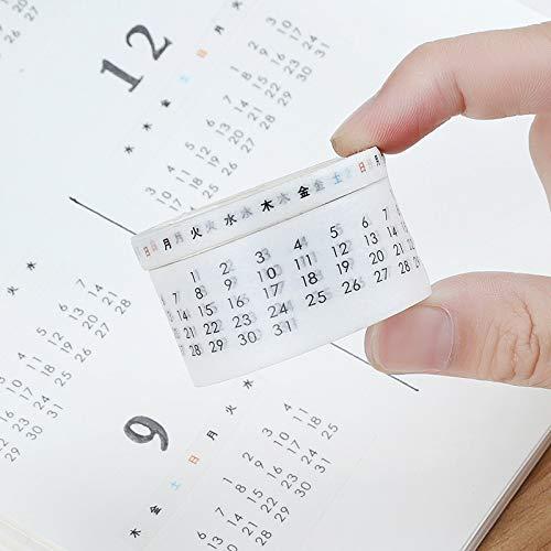 - Creative Monthly Weekly Date Calendar Washi Tape Planner DIY Scrapbooking Sticker Label Masking Tape School Supplies Stationery(1 Piece/ 1 lot)