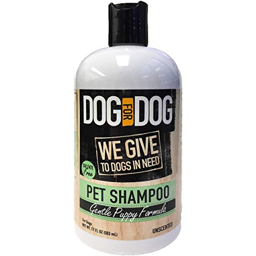 DOG for DOG Puppy Shampoo for Dogs – Nourishes Dog Hair, Skin with Gentle Puppy Formula – Unscented Pet Shampoo