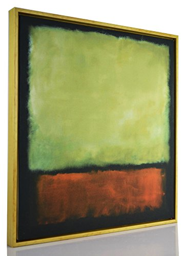 Berkin Arts Framed Mark Rothko Giclee Canvas Print Paintings Poster Reproduction Fine Art Home Decor (Darkbrown Grey)