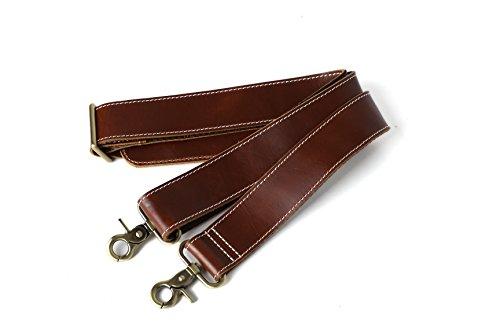 ROCKCOW Reddish Brown Top Grain Leather Travel Duffle Bag Men Shoulder Bag Holdall Bag by ROCKCOW (Image #5)