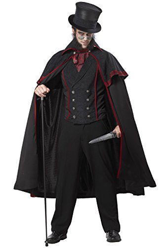 California Costumes Jack The Ripper Set, Black/Red, Large ()