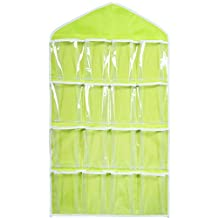 16 Pocket Over Door Hanging Bag Shoe Toy Hanger Storage Tidy Jewellery Organizer Colors:Green