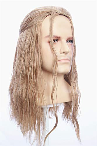 fbewig:Thor Wig Inspired of avengers age of Ultron Long Light Blonde Kinky Curly Cosplay Hair for Adults and Teens ()