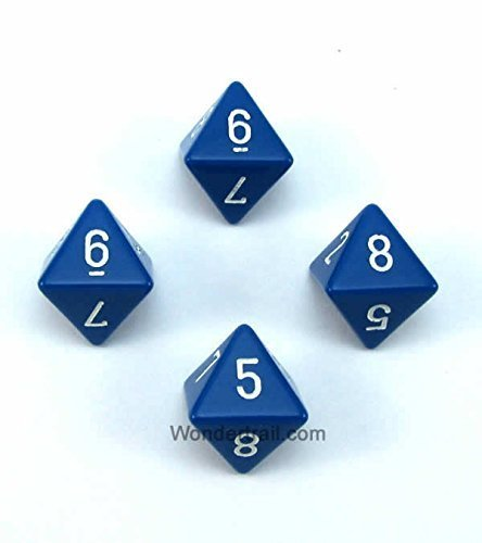 日本最大の ブルー不透明Dice withホワイト番号d8 Chessex wcxpq0806e4 Aprox 16 mm ( B00VWXJ0PA 5/ 8in )パックof 4 Dice Chessex wcxpq0806e4 B00VWXJ0PA, オーティン:47d5e59f --- egreensolutions.ca