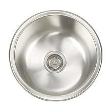 Artisan AR O16 D8-D Premium Collection 16-Gauge 16-Inch Undermount Single Basin Stainless Steel Bar Sink
