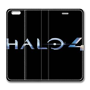 Halo 4 Logo Standing Leather Smart Cover Case Exclusive for iPhone 6 with 4.7 inch Screen by ruishernameMaris's Diary