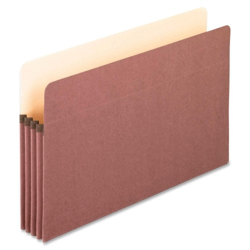 Wholesale CASE of 5 - Esselte Earthwise Recycled File Pockets-File Pocket,3-1/2'' Expansion,9-1/2''x14-3/4'',Red Fiber