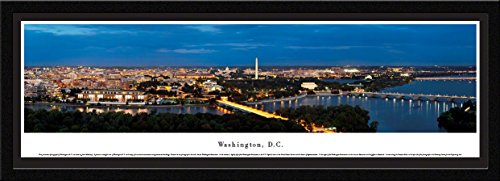 Frame Horizontal Nhl Picture (Washington, DC at Twilight - Blakeway Panoramas Skyline Posters with Select Frame)