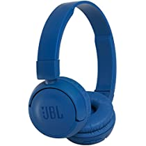 JBL T450BT Extra Bass Wireless On-Ear Headphones with Mic (Blue)