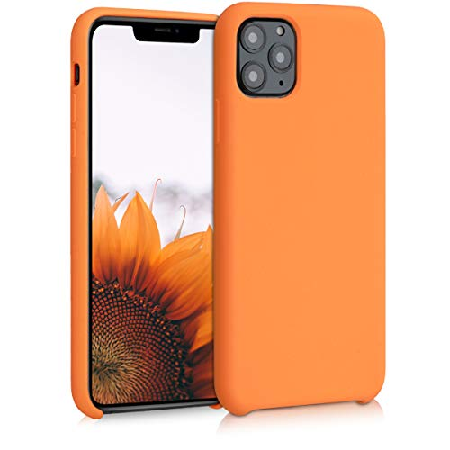 kwmobile TPU Silicone Case Compatible with Apple iPhone 11 Pro Max - Soft Flexible Rubber Protective Cover - Cosmic Orange