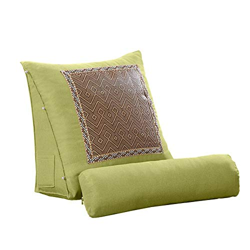 - Bed Wedge Pillow Adjustable Back Cushion Multi-Function Summer Sofa Back Triangle Pillow Headrest with Rattan for Office Chair Waist Back Neck Protector