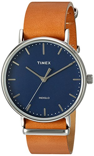 Timex Unisex TW2P97800 Fairfield 41 Tan Leather Slip-Thru Strap Watch