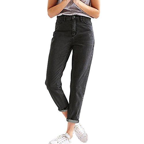 Cigarette Leg Pant (LIYT Women's Fashion High Waist Loose Straight Jeans Denim Pants)