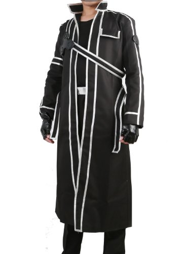 SAO Kirito Cosplay Jacket Coat Costume Suit for Sword Art Online Uniform Version Medium -