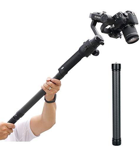 13.8 اینچ Universal Fiber Fiber Monopod Extension Rod Pole Stick 1/4 '' Tripod موضوع سازگار برای DJI Ronin S Moza Air 2 FeiyuTech Zhiyun Crane 2 Smooth 4 لوازم جانبی تثبیت کننده گیمبال
