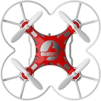 Hiinst 124 Mini Drone 2.4G 4CH 6-Axis Gyro RTF Remote Control Pocket Quadcopter Aircraft Toy for Kids (Red)