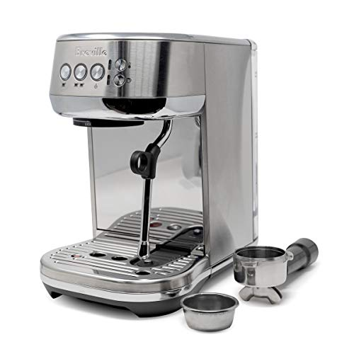 Breville Bambino Pro BES500 Compact Semi-Automatic Espresso Machine Bundle w/ 54mm Portafilter & Double Basket