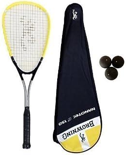 Browning Nanotec Ti Raquette de Squash et 3 balles de Squash Dunlop