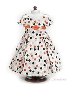 "Vintage Polka Dot Dress - Fits 18"" American Girl Dolls"
