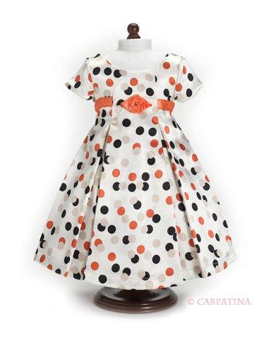 (Vintage Polka Dot Dress - Fits 18