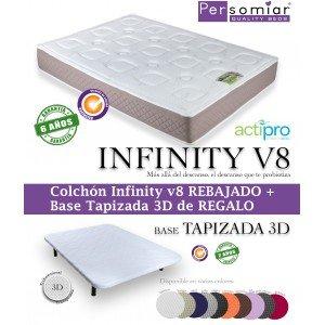 Persomiar Pack Colchón + Base Tapizada + patas de regalo - Gris, 150X190: Amazon.es: Hogar