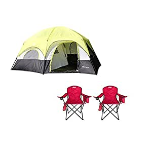Tahoe Gear Coronado 12-Person Tent + Folding Chair (2 Pack)