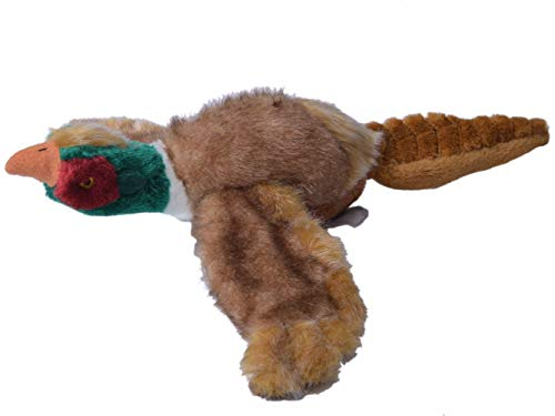 EXPAWLORER Dog Squeaky Chew Toys Soft Plush for Puppy Medium to Large Breeds 17 Pheasant