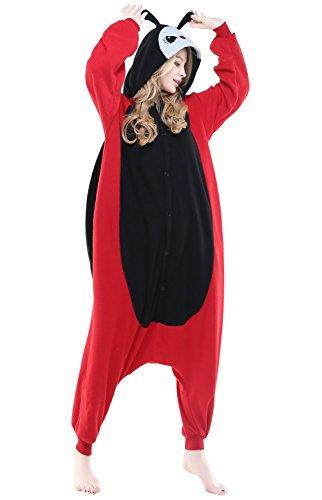 Adult Cosplay Costume Pajamas Animal Jumpsuit Outfit Anime Makeup Partywear-Ladybird,L
