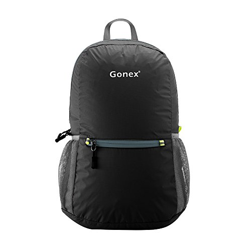 Gonex Ultra Lightweight Packable Backpack Hiking Daypack for Men and Women/ Handy Foldable Camping Outdoor Travel Cycling School Air Travelling Carry on Backpacking + Ultralight and Handy - 6.5 OZ Only + 8 Color Choices