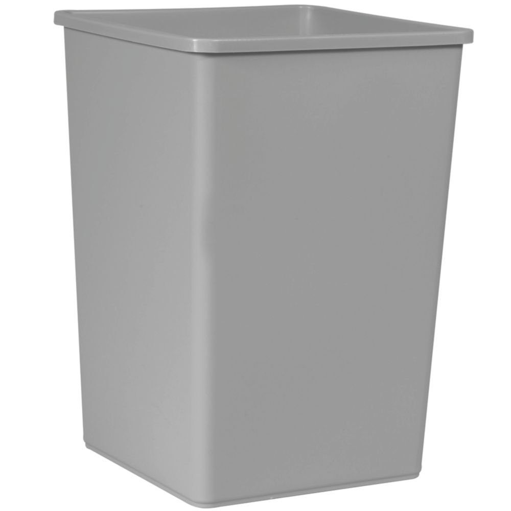 Rubbermaid Commercial FG395800GRAY Square 35-Gallon Untouchable Trash Can, Gray by Rubbermaid Commercial Products