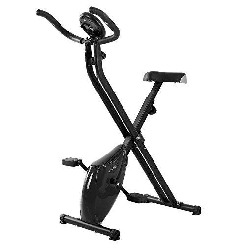 Ancheer Magnetic Folding Upright Exercise Bike Indoor Cycling Bike Cardio Workout Adjustable Machine (Black) Ancheer