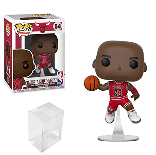 Funko POP Basketball: NBA Chicago Bulls Michael Jordan Vinyl Figure Bundle with 1 PopShield Pop Box Protector (100 Best Nba Players Of All Time)