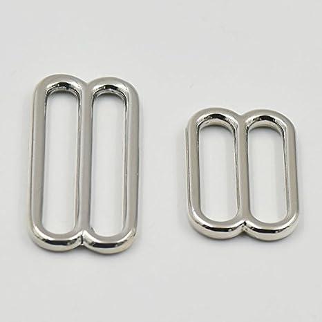 """Fibbie rettangolari per cinghie o tracolle a scorrimento, in metallo, modello """"bocca larga"""", - 2,5cm x 3,8cm - 20 pezzi., 1 (25mm) 1 (25mm) micoshop"""