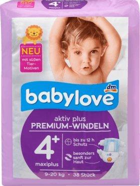 babylove pañales Premium activo Plus Tamaño 4 +, MAXIPLUS 9 - 20 kg, 38 St: Amazon.es: Salud y cuidado personal