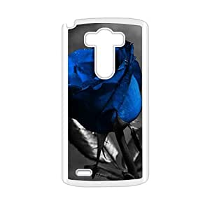 Blue Rose Dark Leaves personalized creative clear protective cell phone case for LG G3